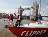Londyn bêdzie go¶ci³ start i metê regat Clipper Race.